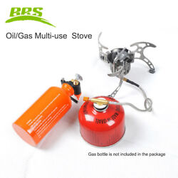 BRS 8 Gas Oil Multi use Camping Stove Set 3000W Portable Burner with Oil Bottle $63.89