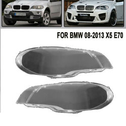 New For 2008-2013 BMW X5 E70 330i Pair Right & Left Headlight Clear Lens Cover