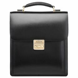 Mens Leather Bags Briefcase Small Messenger Document Shoulder Attache