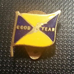 Good Year Lapel Button 30er Opaque Enamelled Dimensions Logo 0 19/32x0 19/32in