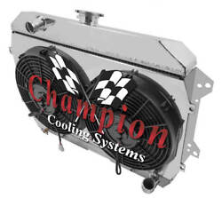 4 Row Bc Radiator W/ 2 12 Fans And Shroud For 1974 1975 Datsun 260z L6 Eng
