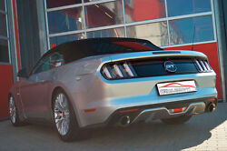 Nil 2 3/4in Duplex Click-on Exhaust System Ford Mustang Cabriolet From Yr 2014