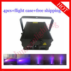 1w Rgb Animation Laser Light Stage Lighting With Flight Case 4pcs Free Shipping