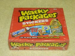 2004 TOPPS Wacky Packages Series 1 Factory Sealed Box (24 Pack - 6 Stickers)
