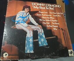 Donny Osmond Puppy Love Singer Signed My Best To You Record Vinyl Masked Singer