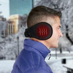 The Rechargeable Heated Ear Heat Warmers Black USB charging cable $28.99