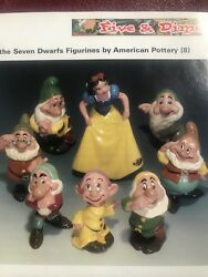 Disney Snow White And Seven Dwarfs Antique Ceramic Set By American Pottery
