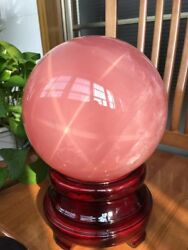 21.3LB Huge! Polished Natural PINK Rose Sphere Ball Crystal 191MM