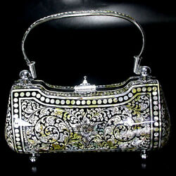 Unique Inlaid Natural Mother of Pearl Evening Bag