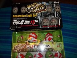 Neca Ghostbusters Head Lites 10 Handpainted Light Up Heads And Friday The 13th Set