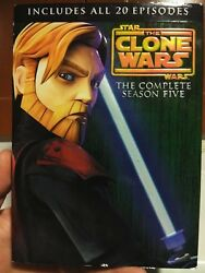 Star Wars The Clone Wars - The Complete Season Five Dvd 2013 4-disc Set
