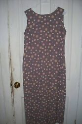 Pretty Dress By Leslie Fay.. Long With A Slit In The Back Polka Dots