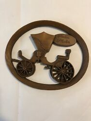 Vintage Burwood Products Company Hanging Wall Art Cars