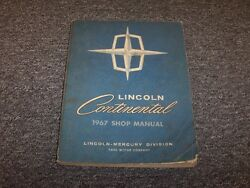 1967 Lincoln Continental Sedan Original Workshop Shop Service Repair Manual Book