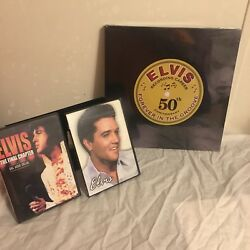 Elvis Presley Dvd And New Coffee Table Book Lot 50th Anniversary Dvdandrsquos Used