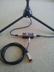 MICROPHONE MOMENTARY MUTE POPLESS FOOT PEDAL & HAND HELD PUSH BUTTON SWITCH