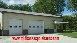 Pole barn kit 40x80x14 with Steel trusses!!