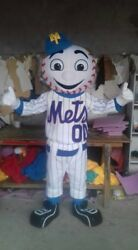 Mr. Met Mets Baseball Cheerleading Team Promotion Mascot Costume Character Party