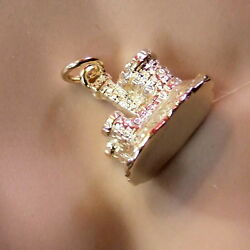 9ct Gold New Solid London Windsor Castle Charm