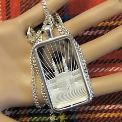 New Sterling Silver Faith Bullion Pendant With 1oz Fine Silver Ingot And Chain