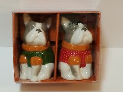 French Bulldog Fall Frenchie Sweater Salt & Pepper Shakers