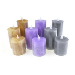 Battery Operated LED Votive Candle with Built In Timer