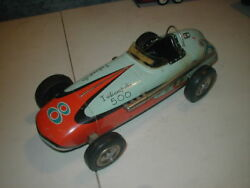 Vintage Tin Indy Race car Japanese 1960's Large scale 15