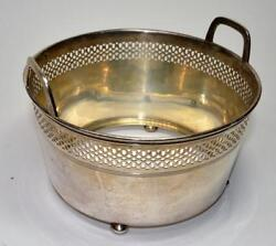 Antique Edwardian And Co. Sterling Silver 925-1000 Ice Bucket On Feet 280g