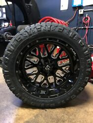 22x10 D611 Fuel Stroke Wheel And Nitto Ridge Tire Package 34 8x6.5 Dodge Ram 2500