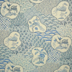 Clarence House Shere Khan Linen Multipurpose 5 Fabric Yards Blue