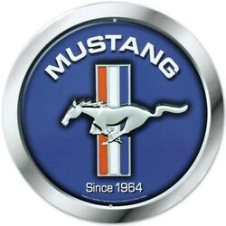 Ford Mustang Since 1964 Round Metal Sign