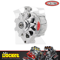 Powermaster 100a 1-wire Alternator Chrome Fits Ford - Pm8-37101