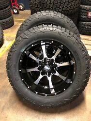20x10 Moto Metal Mo970 Fuel At 33 Wheel And Tire Package 8x180 Gmc Sierra 2500 Hd