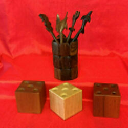 Wooden Pen Holders And Pens