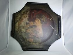 Vtg Pre Prohibition Sterling Beer Tray Victorian Early Rare Antique Metal Sign