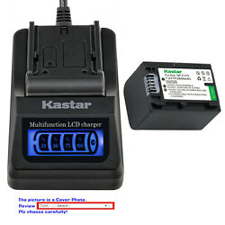 Kastar Battery Lcd Quick Charger For Sony Np-fv70 Hdr-xr155 Hdr-xr160 Hdr-xr260