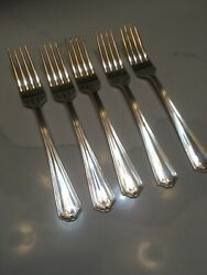 Lot 5 Setting Silver-plated Dinner Forks International S. Co. Xii Silverplate
