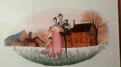 P Buckley Moss Rural Heritage 1988 Framed Print Mat Signed Numbered Rare