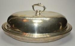 Antique S. Kirk And Son Victorian Sterling 925/1000 Covered Oval Dish 36 Troy Oz