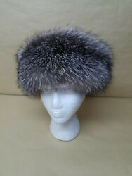 New Real Silver Fox Fur Headband Made In Usa One Size Us Seller