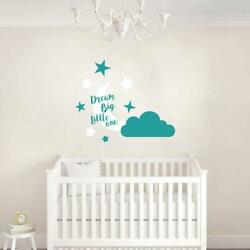 Dream Big Little One Wall Sticker Decal Home Decor Quote Room Nursery Kids Sq187