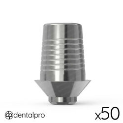 50 X Rotational Cad/cam Ti-base Abutment Mis® Compatible Internal Hex Np