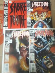 X-Men Comic Lot sabretooth mary shelley 1-4 1-4 2 sets of minis vf+ bag boarde