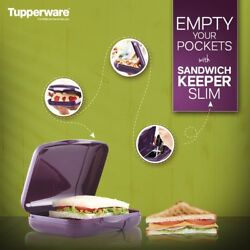 Tupperware Purple Color Sandwich Keeper Slim- Lunch Box - Snack Container- New