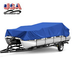 17-24ft Heavy Duty Boat Cover Beam 96and039and039/102and039and039 Waterproof Universal Fit Pontoon