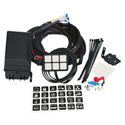 12V 6 Gang LED Switch Panel Slim Touch Control Panel Box For Car Marine Boat