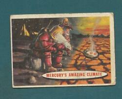 1957 TOPPS SPACE TARGET MOON CARD #77 MERCURY'S AMAZING CLIMATE FAIR