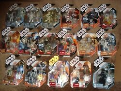 STAR WARS (LOT OF 17 FIGURES) 30TH ANNIVERSARY SILVERGOLD AND BLACK COINS