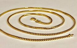 18kt Solid Gold Franco Curb Box Link 26 2 Mm 18 Grams Pendant Chain Necklace
