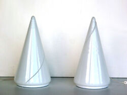 1970s By De Majo Italian Design Murano Glass Pair Of Table Lamps _ Signed